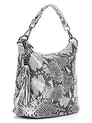 Женская кожаная сумка ковш SISSI Diva's Bag цвет светло-серый