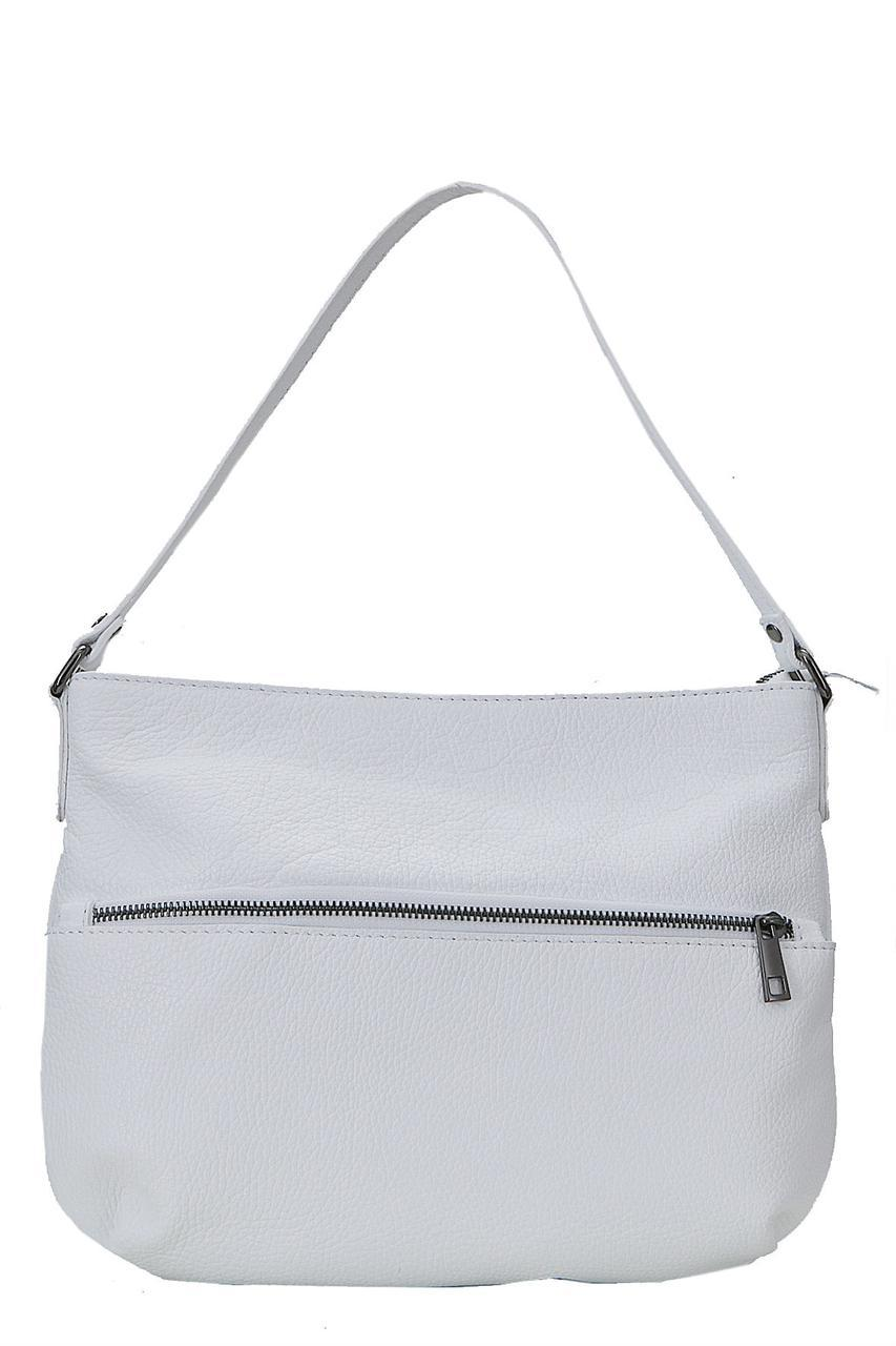 Женская кожаная сумка для всего SIDONIA Diva's Bag цвет белый
