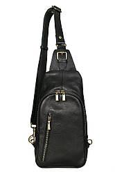 Чоловічий шкіряний рюкзак SAM diva's Bag колір чорний