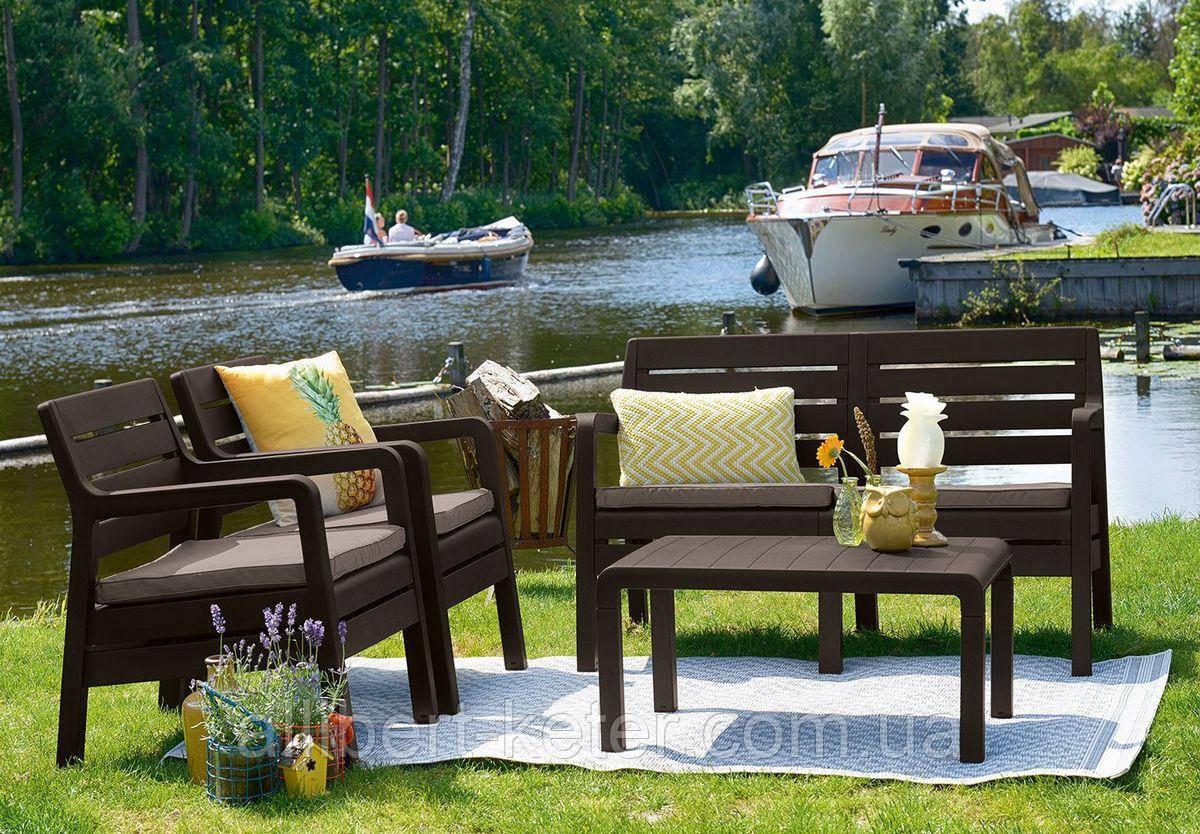 Набор садовой мебели Delano Set Brown ( коричневый ) из искусственного ротанга