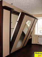 Двухспальная шкаф-кровать c зеркалом, фото 1