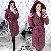 Женская демисезонная куртка с капюшоном Стеганная плащевка на синтепоне Размер 42 44 46 48 В наличии 6 цветов