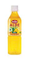 Упаковка безалкогольного негазированного  напитка Aloe Vera Drink Mango Dellos  0.5 л х 20 бут