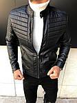 Мужская утепленная куртка (черная) - Турция, фото 8
