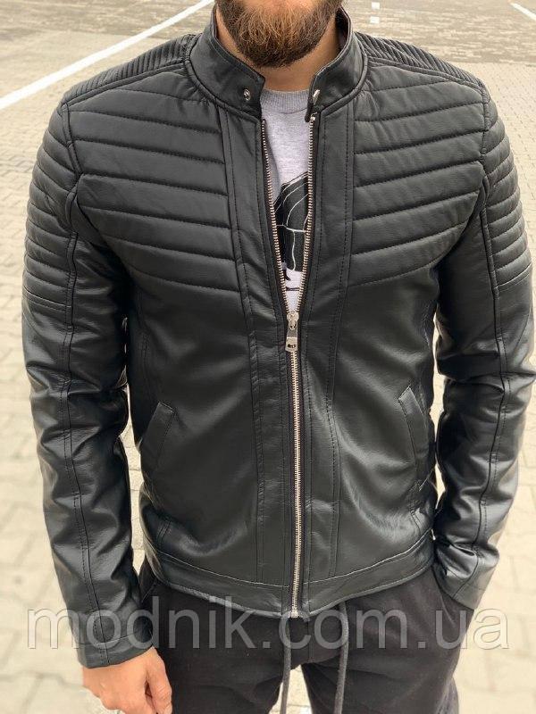 Мужская утепленная куртка (черная) - Турция