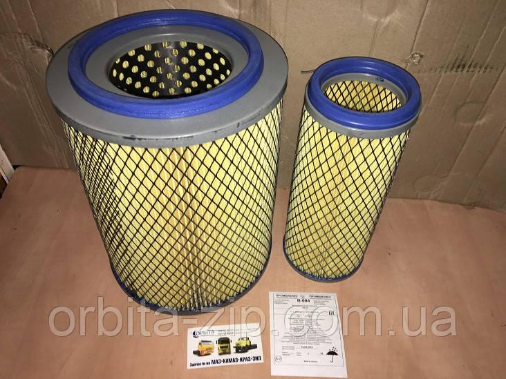 В-004 Элемент фильтра воздушный ДТ-75, КАМАЗ, ЗИЛ 5301 БЫЧОК, комплект из 2-х штук (пр-во Промбизнес)