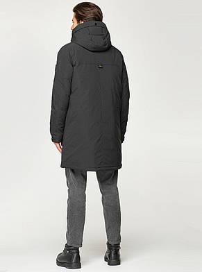 Удлиненная мужская зимняя куртка MALIDINU чёрного цвета, фото 2