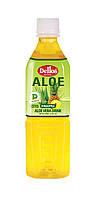 Упаковка безалкогольного негазированного  напитка Aloe Vera Drink Pineapple Dellos  0.5 л х 20 бут