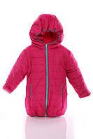 Куртка Евро для девочки малиновая с бирюзой - 189262