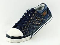 Кеды джинсовые YZ 0915 синие рзмеры 41- 46