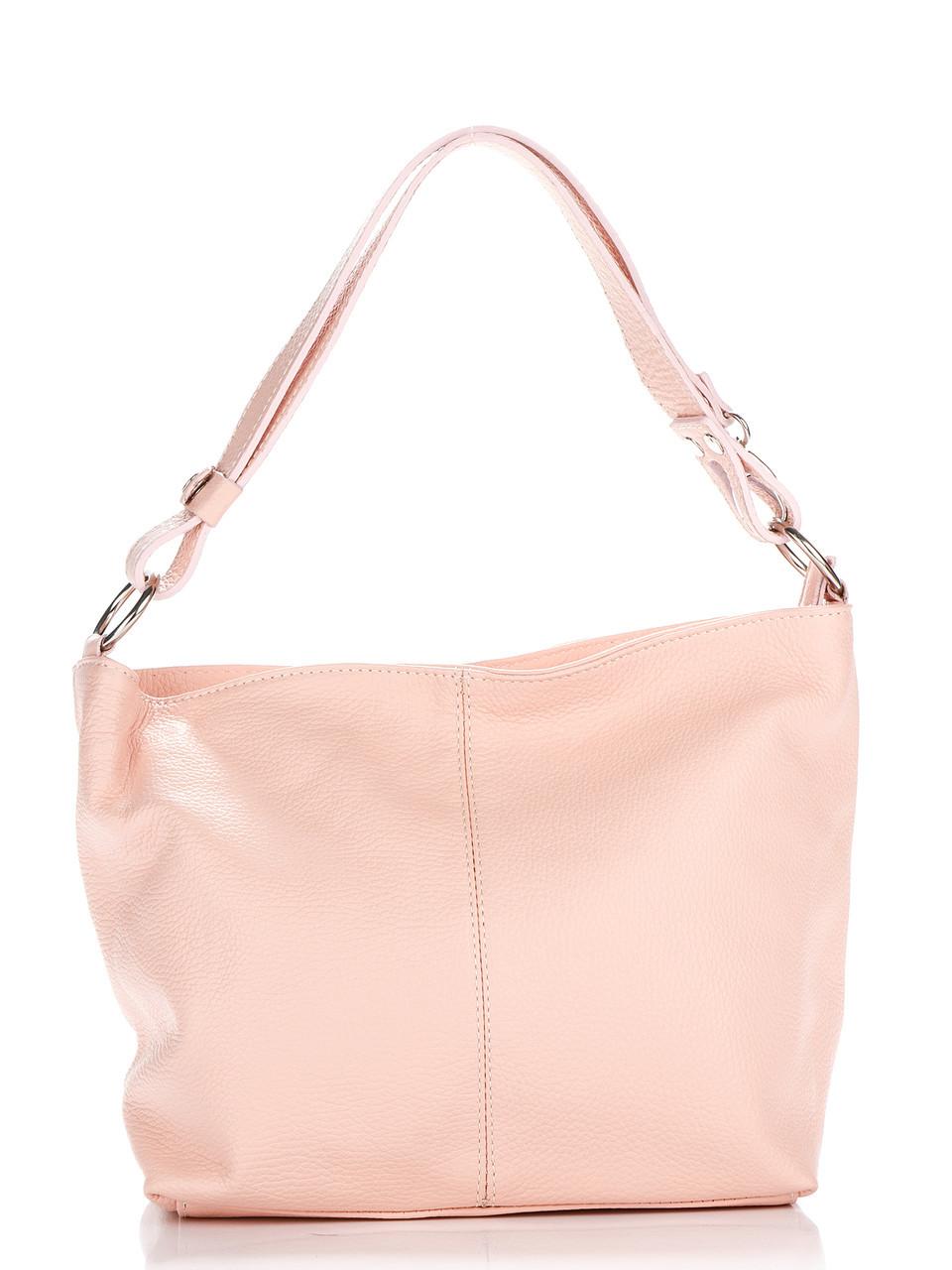 Женская кожаная сумка LORELLA Diva's Bag цвет розовый