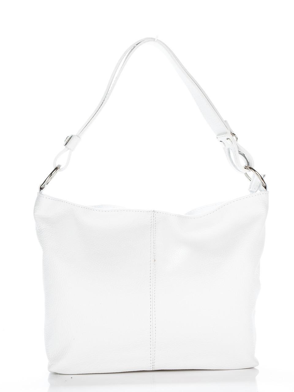 Женская кожаная сумка LORELLA Diva's Bag цвет белый