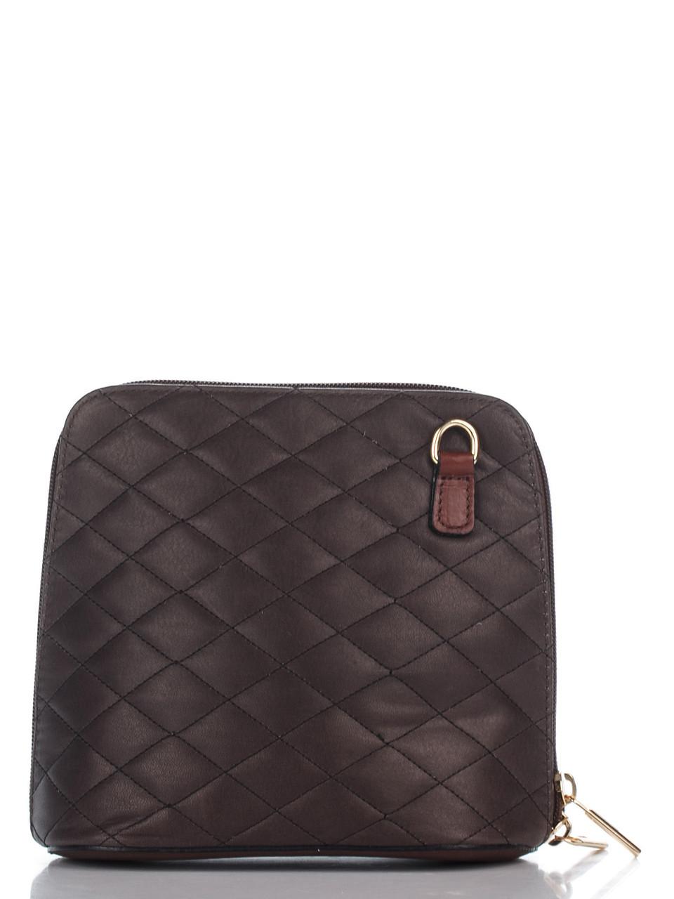 Брендовая сумка RAMONA  кросс боди Diva's Bag темно-коричневая 17 см х 17 см х 9 см