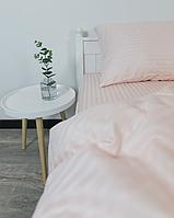 Комплект постельного белья Двуспальный (180х220 см) Страйп-сатин цвет Пудра