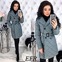Демисезонная куртка женская Стеганная плащевка на синтепоне Размер 42 44 46 48 Разные цвета