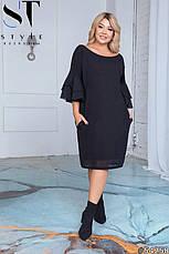 Платье женское черное большие размеры 50-60, фото 2