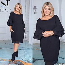 Платье женское черное большие размеры 50-60, фото 3