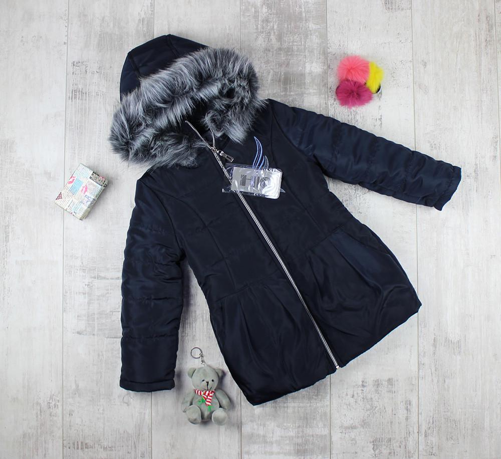 Пальто детское на меху для девочки на овчине HL 210