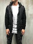 Мужская удлиненная джинсовка (черная) - Турция, фото 3