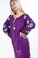 Льняное платье вышиванка