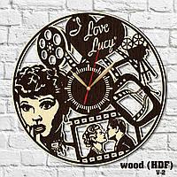 Часы настенные Я люблю Люси Комедийный телесериал Часы любовные Love story Крутой дизайн часов Золотые стрелки