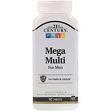 """Вітаміни і мультиминералы для чоловіків, 21st Century """"Mega Multi For Men"""" (90 таблеток)"""
