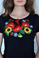 Вышитая женская футболка  662 (Л.Л.Л)