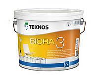 Краска для потолков TEKNOS BIORA 3 акриловая белая , 2,7л