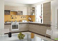Угловая модульная кухня из ДСП Алина 2 (2,55х2,9 м)
