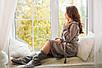 Блестящий халат Eirena Nadine (543-52) на рост 152 серый +сапожки, фото 8