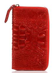 Женский кожаный кошелек PINA Diva's Bag цвет красный