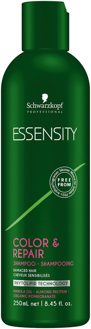 Восстанавливающий шампунь без сульфатов Schwarzkopf Professional Essensity Color&Repair Shampoo 250 мл