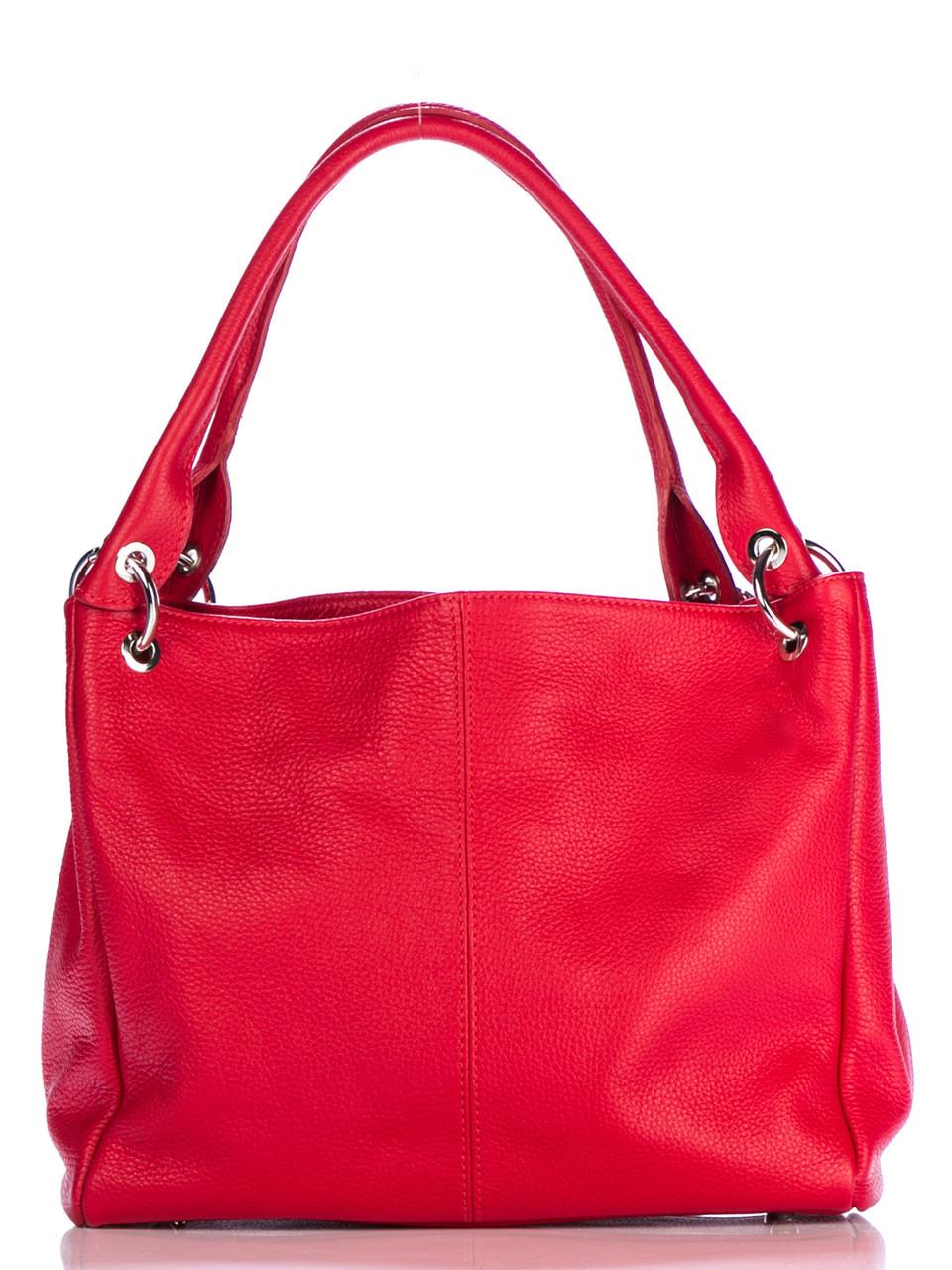 Жіноча шкіряна сумка ASIA diva's Bag колір червоний