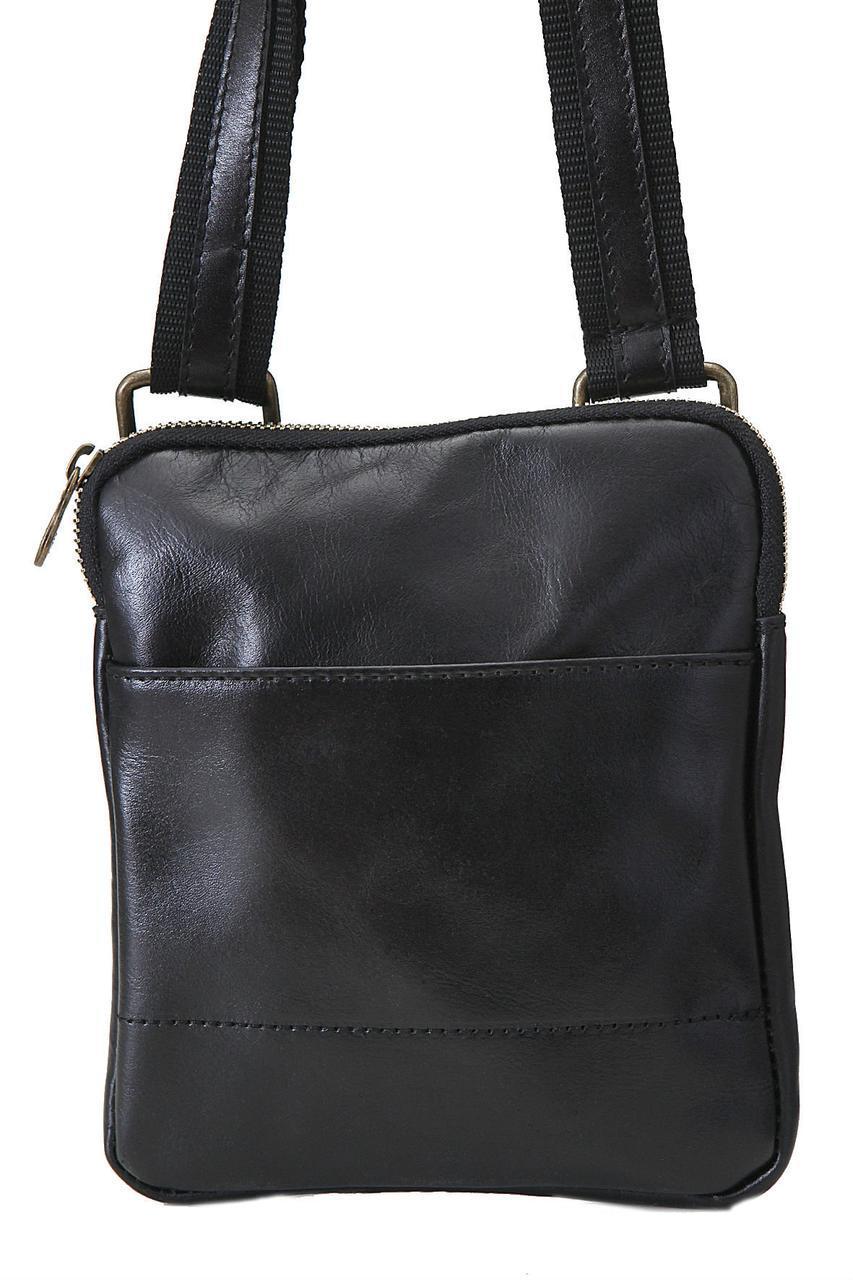 Мужская кожаная сумка PAOLO Diva's Bag цвет черный