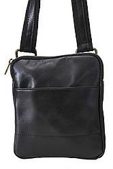 Чоловіча шкіряна сумка PAOLO diva's Bag колір чорний