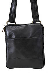 PAOLO черная мужская кожаная сумка Divas Bag