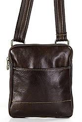 Чоловіча шкіряна сумкаPAOLO diva's Bag колір коричневий