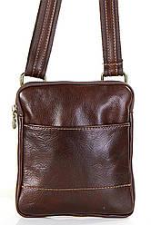 Чоловіча шкіряна сумка PAOLO diva's Bag колір коричневий
