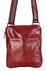 Чоловіча шкіряна сумкаPAOLO diva's Bag колір червоний