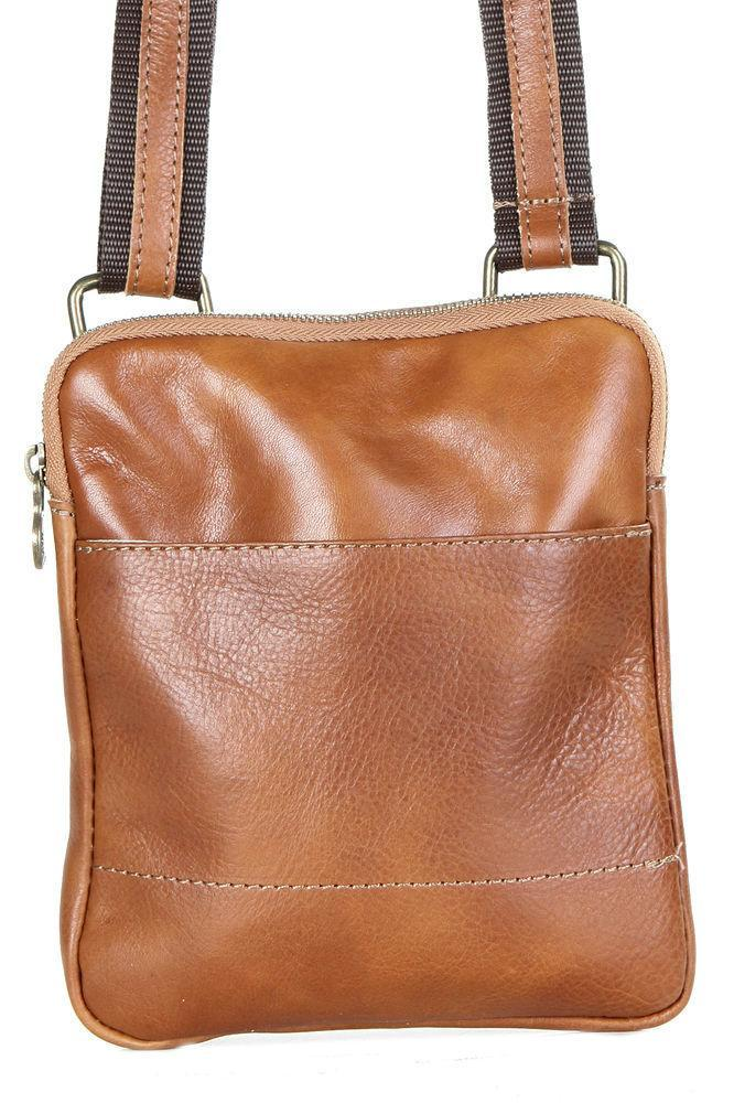 Мужская кожаная сумка PAOLO Diva's Bag цвет коньячный