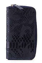 Жіночий шкіряний гаманець ORLANDA diva's Bag колір темно-синій