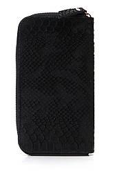 Жіночий шкіряний гаманець ORLANDA diva's Bag колір чорний