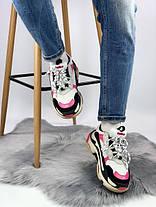 Женские кроссовки в стиле Balenciaga Triple S Pink, фото 2