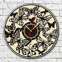 Часы Бабочки Подарок родным Часы из древесины Часы с кварцевым механизмом Декор в интерьер Бабочки на часах