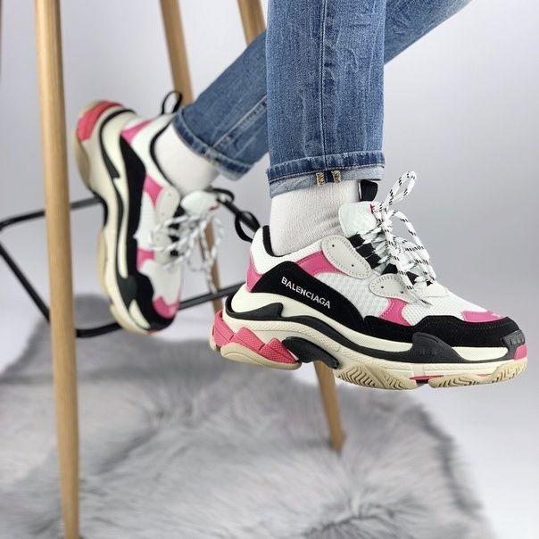 Женские кроссовки в стиле Balenciaga Triple S Pink