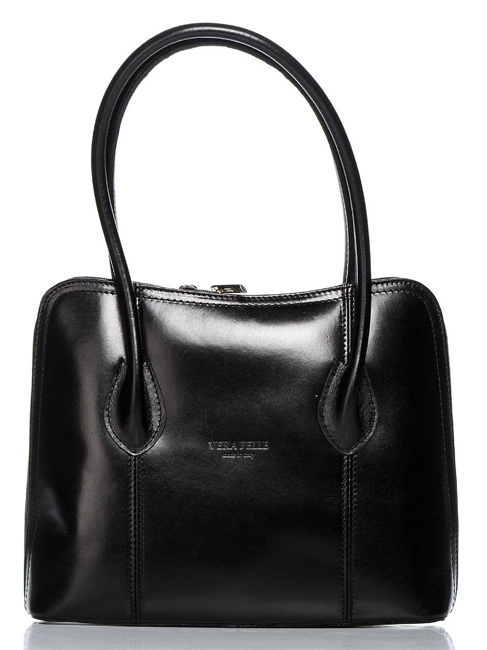 Женская кожаная сумка NICOLE Diva's Bag цвет черный