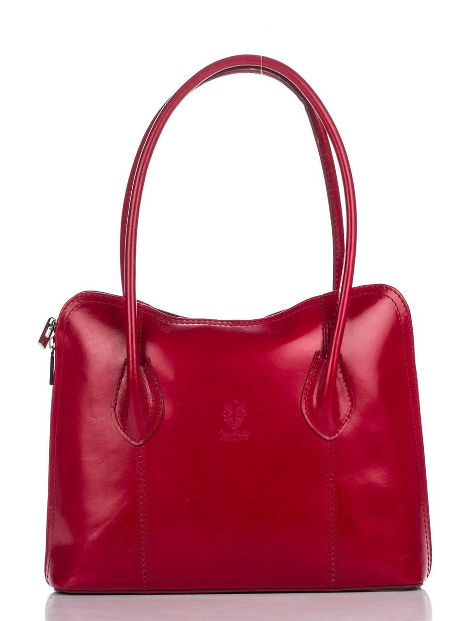 Женская кожаная сумка NICOLE Diva's Bag цвет красный