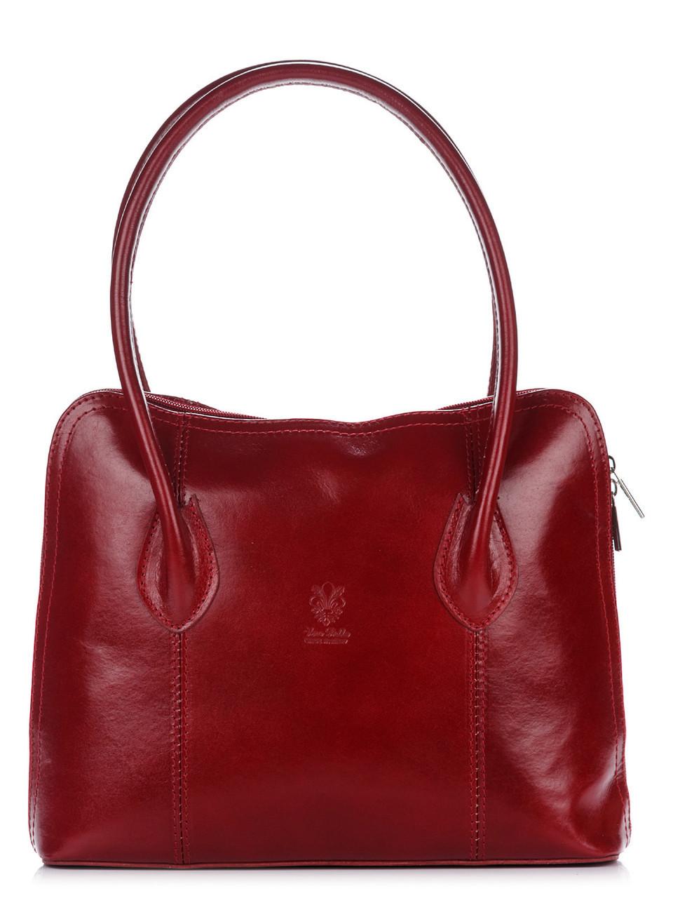 Женская кожаная сумка NICOLE Diva's Bag цвет бордовый