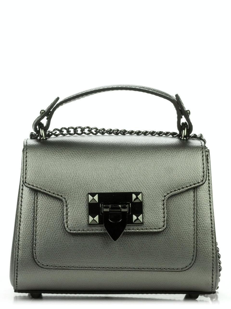 Женская кожаная сумка NIKKI Diva's Bag цвет стальной