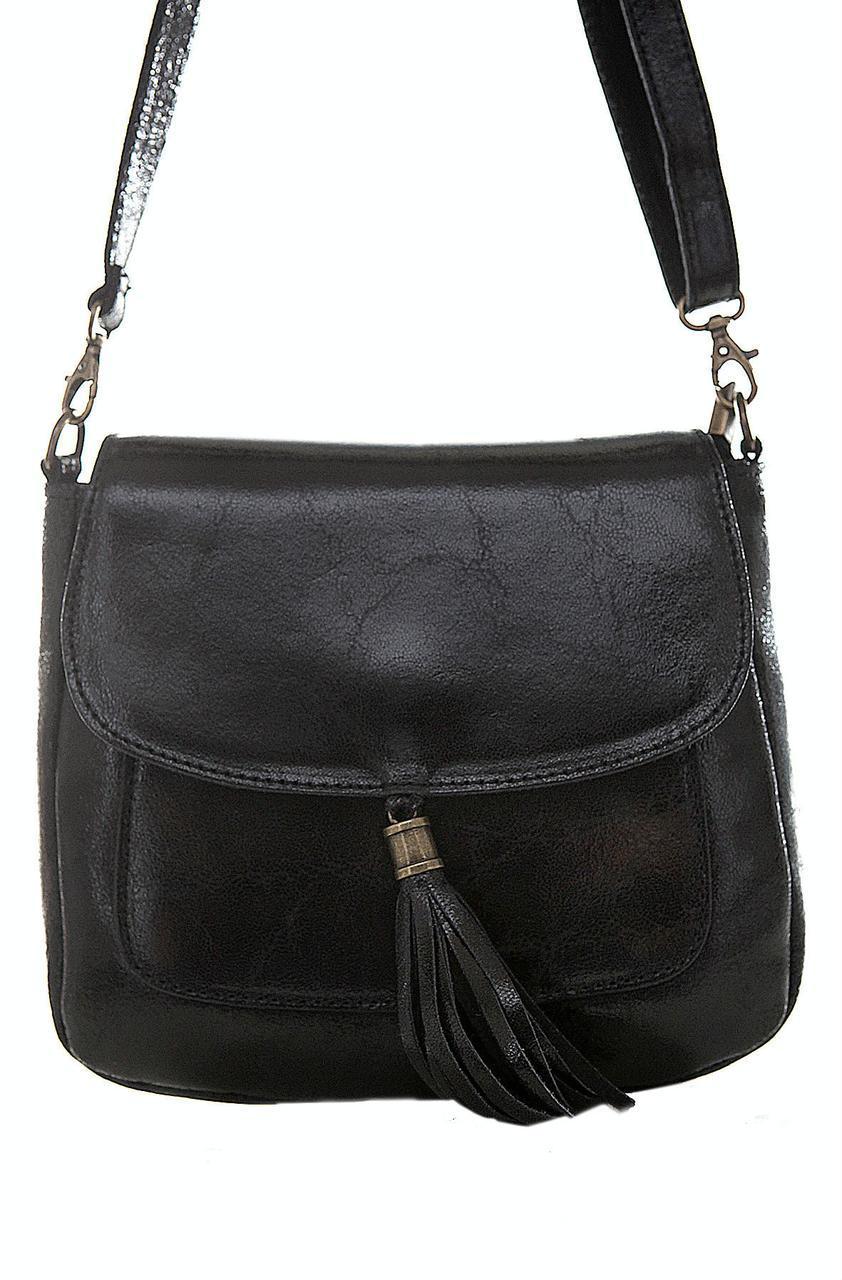 Женская кожаная сумка NIVES Diva's Bag цвет черный